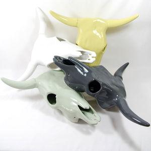 White Cattle Skull - sculptures