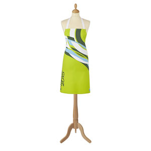 Rugby World Cup Hoops Green Cotton Apron