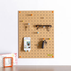 Pegboard With Wooden Pegs, Small