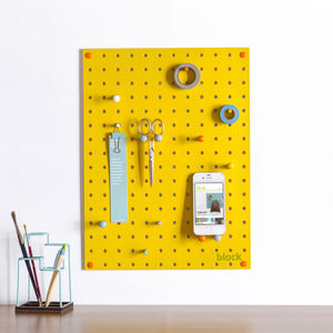 Yellow Pegboard With Wooden Pegs, Small