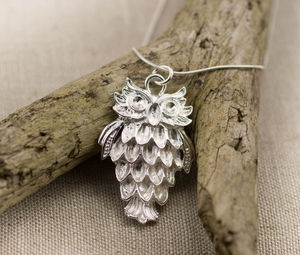 Silver Wise Owl Pendant