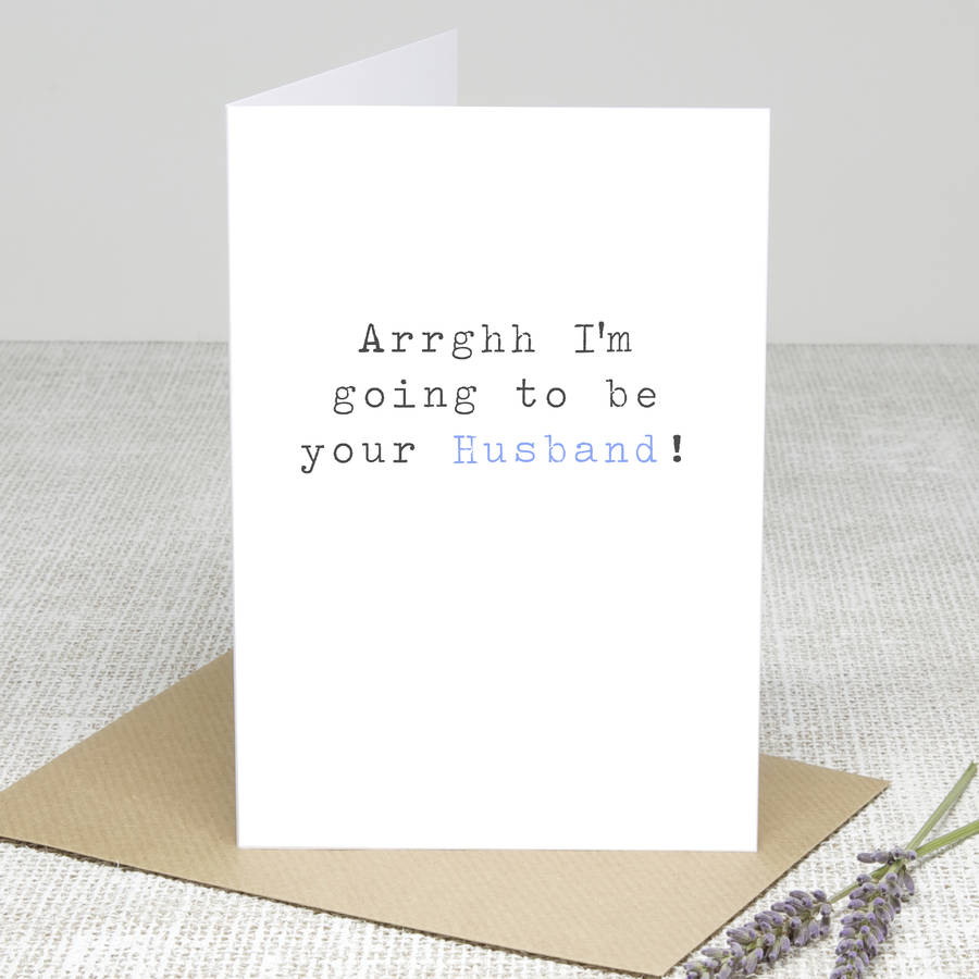Your Husband Wedding Day Card