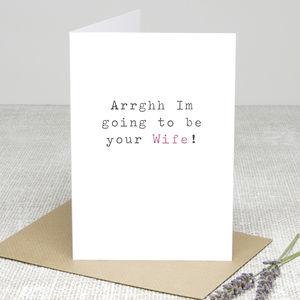 'Your Wife' Wedding Day Card - wedding cards