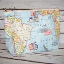 World Map Travel Wash Bag - Large