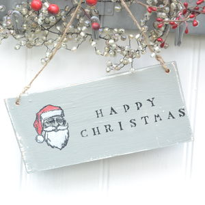 Father Christmas Sign - decorative accessories