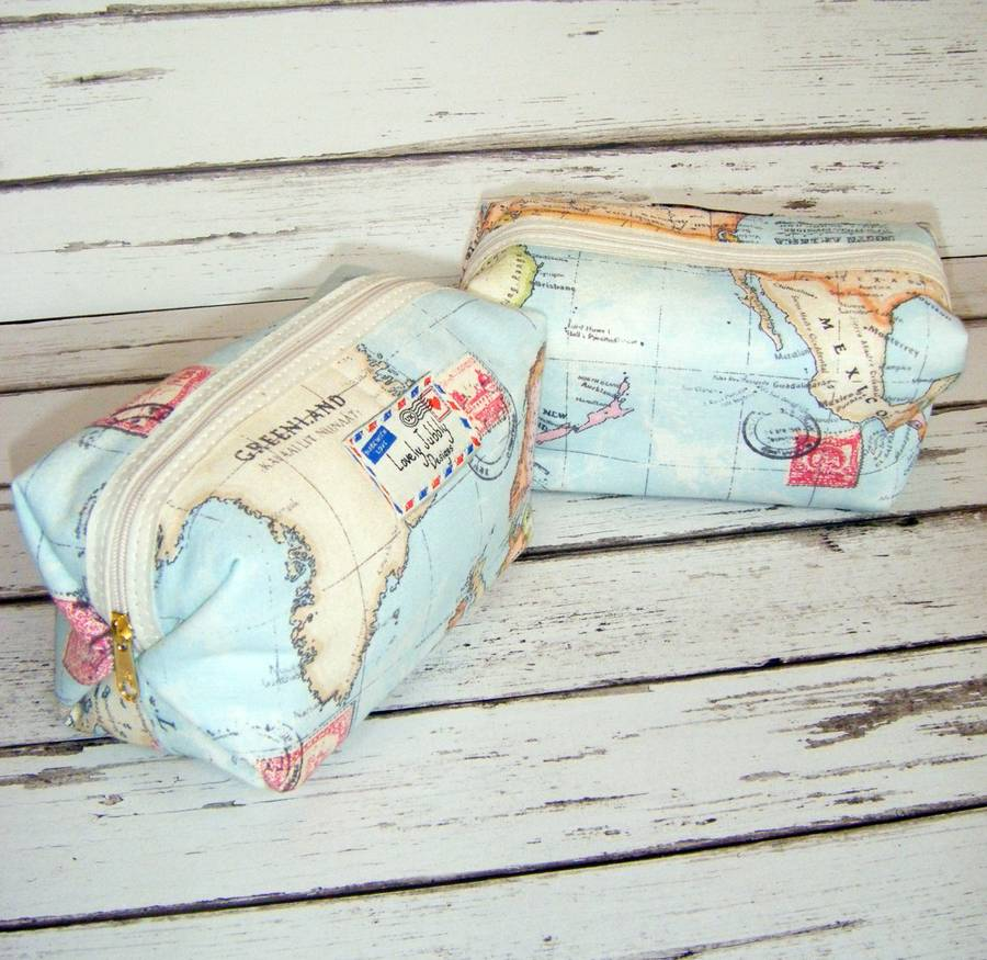 World map travel gift makeup toiletry wash bag by lovely jubbly world map travel wash bag box gumiabroncs Image collections
