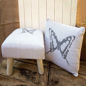 Butterfly Footstool And Cushions