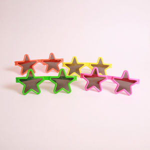 Set Of 12 Star Glasses - fancy dress