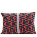 Red + Blue Knitted Lolli Cushion