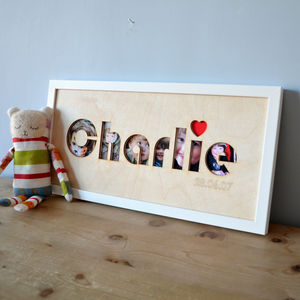 Personalised Name Cut Out Art Print - posters & prints for children