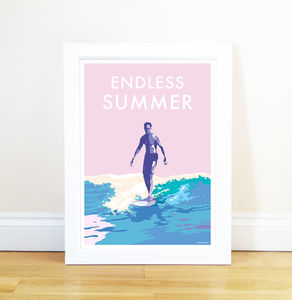 Endless Summer Vintage Style Seaside Poster