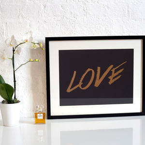 Foil Love Print - the 'love' collection