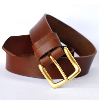 Dark Tan Handmade Leather Jeans Belt