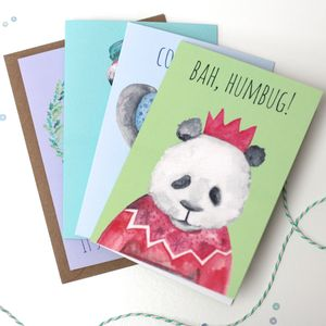 Totally Tropical Pack Of Four Christmas Cards - cards & wrap