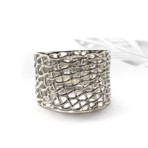 Chainmail Silver Ring - rings