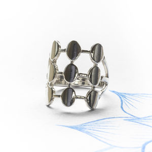 Contemporary Silver Ring - rings