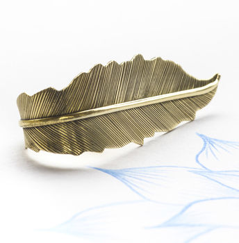Handmade Brass Feather Ring