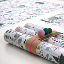 Christmas Character Wrapping Paper Five Sheets