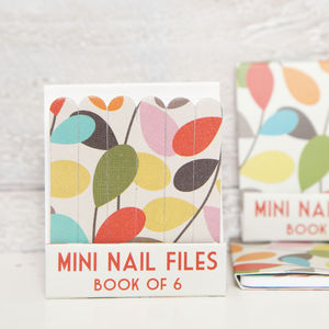 Leaf Print Mini Matchbook Nail Files