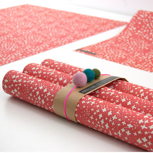 Bec Snowy Christmas Wrapping Paper Five Sheets - wrapping paper