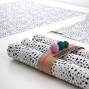 Bec Snowy Christmas Wrapping Paper Blk/Wht Five Sheets