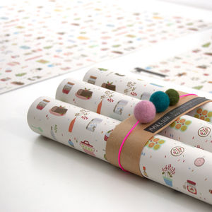 20% Off Louise Mini Bakery Wrapping Paper Five Sheets - wrapping paper