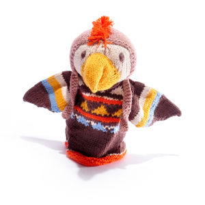 Mohican Eagle Hand Puppet In Organic Cotton