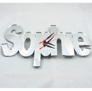 Personalised Name Mirrored Wall Clock