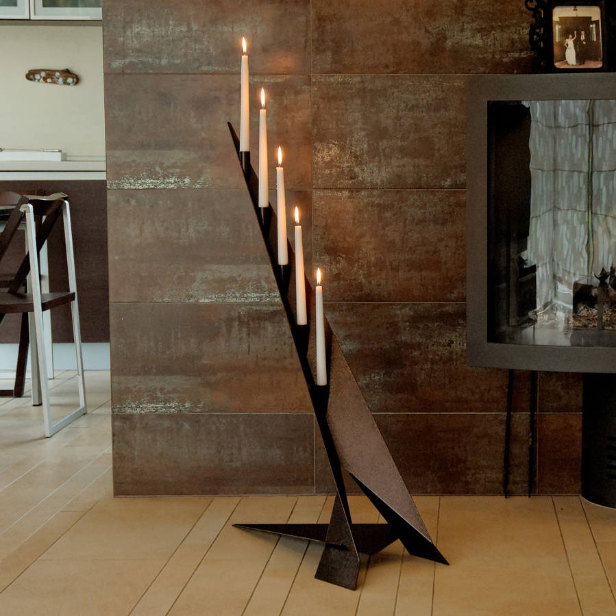 Cliff Steel Candle Holder By Arpe Studio Uk