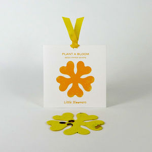 'Plant a Bloom' Seed Paper Gift - card alternatives