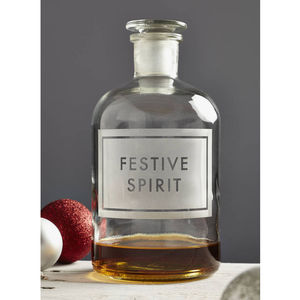 'Festive Spirit' Etched Bottle - tableware