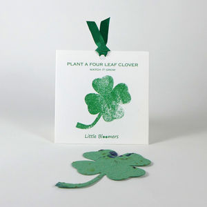 'Plant a Clover' Seed Paper Gift - seeds & bulbs