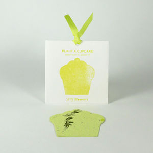 'Plant a Cupcake' Seed Paper Gift - wedding favours