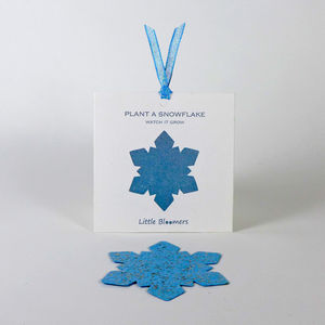 'Plant a Snowflake' Seed Paper Gift - cards
