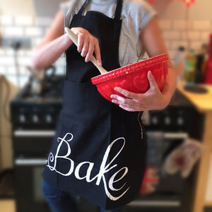 Typographical Chalk Style 'Bake' Apron - kitchen accessories