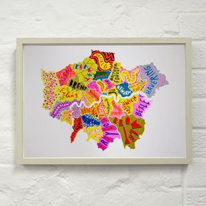London Boroughs Three Print - nursery pictures & prints