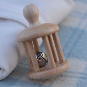 Wooden Bell Rattle - baby care