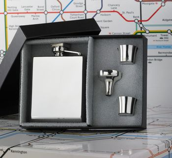 Personalised Deco Hip Flask