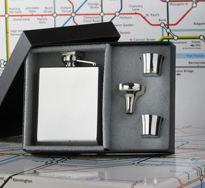 Personalised Deco Hip Flask - lust list for him