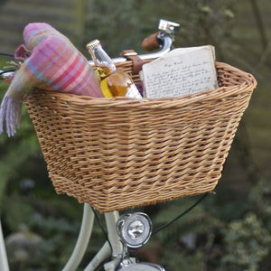 Wicker Handlebar Bicycle Basket - gifts for cyclists