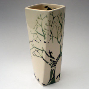 Ceramic Tree Horse Vase - kitchen