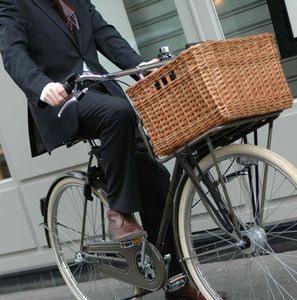 Wicker Grocers Bicycle Basket