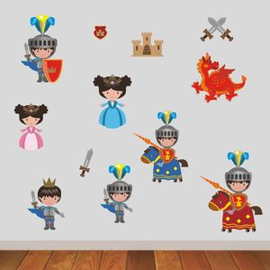 Knights In Shining Armour Wall Sticker