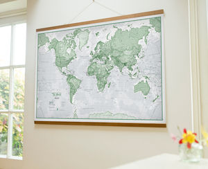 Map Of The World Art Print - noticeboards