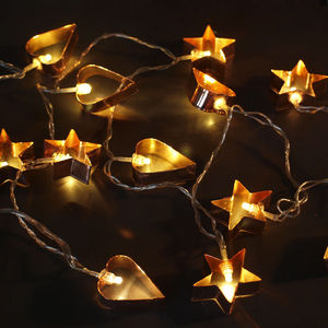 Copper Cookie Cutter Lights