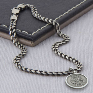 Personalised Sterling Silver St Christopher Bracelet - bracelets