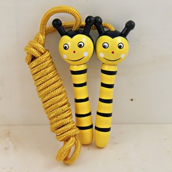 Hand Painted Wooden Bee Skipping Rope