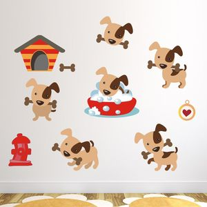 Puppy Dog Wall Stickers Pack