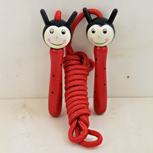 Hand Painted Ladybird Wooden Skipping Rope - garden games & toys