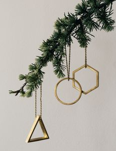Circle Brass Ornament - view all decorations